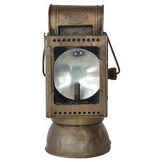 Carbide lamp, railway,  Friemann & Wolf, early 1900s.