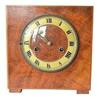 Art Deco era, mahogany desk clock, made by Junghans or the Hamburg American Clock Company (HAU),  Germany, circa 1927.