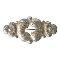 Early vintage silver (800 standard) pin brooch.