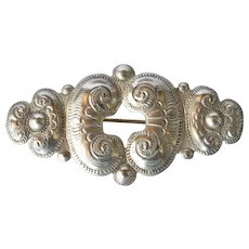 Early vintage silver (800 standard) pin brooch.