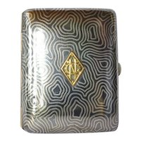 Cigarette case, silver (800 standard) and enamelled, 1930 c.