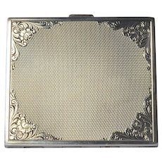 Sterling silver (925) , Swiss Made, compact with mirror, 1930c.