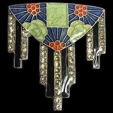 Art Deco  enamelled brooch, 1930 c.