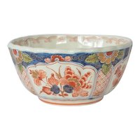 Delft, Holland, vintage, Imari scalloped rim bowl,1984.