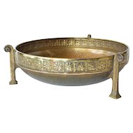 A WMF, Geislingen, brass hammered bowl, 1940c.