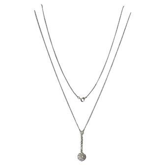 Diamond set pendant set in platinum, 1915c.