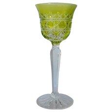 Val St. Lambert vintage wine glass, 1975 c.