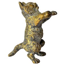 An Austrian anthropomorphic bronze cat, early 20th century.