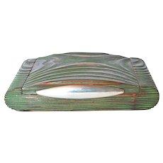 Wooden box, silver clasp, art deco , 1920-1930.