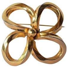 Grosse, vintage gold tone brooch, 1969.