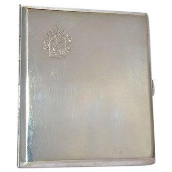 A vintage silver( 800 standard ) cigarette case, 1950c.