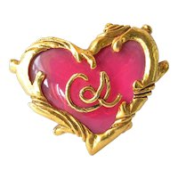 Vintage Christian Lacroix pin brooch, early 1990s.