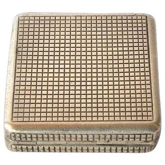 Art deco, silver (935) Swedish pill box, 1930c.