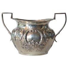 Sterling silver  sugar bowl - Birmingham - 1917.