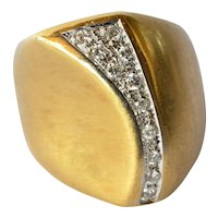 An 18ct Gold & Diamond Cocktail Ring, circa 1970.