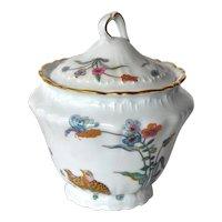 Vintage Haviland Limoges 'Aux Cailles' lidded jar.