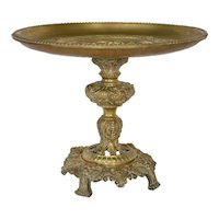 Continental European gilt brass tazza centrepiece,late 19th century.