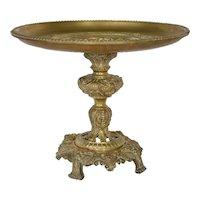 Continental European gilt brass tazza centrepiece,late 19th century.