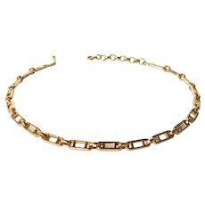 Vintage Henkel Grosse gold tone link necklace, 1975 c.
