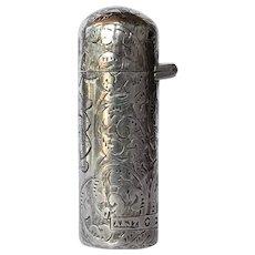 A  Victorian silver scent bottle, Arthur & John Zimmerman, Birmingham,1889.