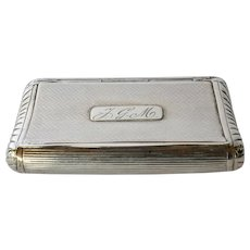 Snuff box, Dutch silver, 1848.