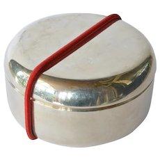 Pomellato silver(925) round vintage trinket box.