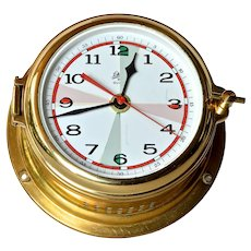 Schatz vintage quartz ship's clock.