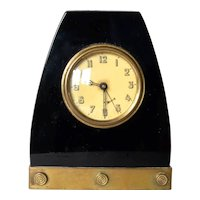 Art Deco,  travel alarm desk clock, made by Gebruder Junghans, 1930.