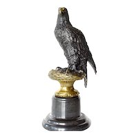 A Bronze model of an  eagle  -  second  half  20th.  century,  after  Archibald Thorburn ,  (1860-1935)