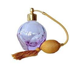 Moser (Bohemia ) perfume bottle/atomiser, early vintage.