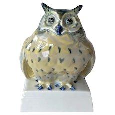 Pirkenhammer (Lindner) porcelain owl,1930c.