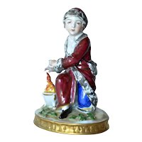Sitzendorf, German, porcelain figurine, early 1900s.