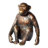 Vintage Asian bronze monkey, 1950c.