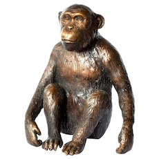 Vintage Asian bronze monkey, 1950c.