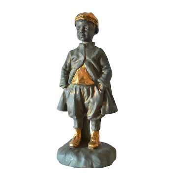 Sculpture of a 'street rascal' by the Brothers (Gebroeders) van Paridon,1900-1920.