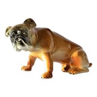 Wagner & Apel porcelain bull dog, early vintage.