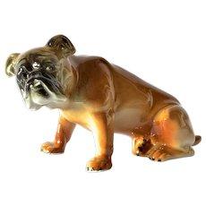 Wagner & Apel porcelain bull dog, early vintage.