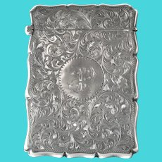 A late Victorian silver card case, William Aitken, Chester,  1901.