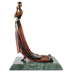 Original Bronze Sculpture by G.S. Cassel, art deco period.