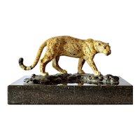 Cold Painted Bronze Leopard,  Austria , 1920c.