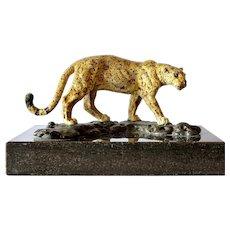 Bronze Leopard, Franz Bergmann, Austria , 1920c.