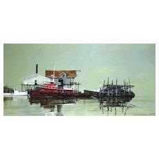 Contemporary Watercolor Seascape Painting R.W. Ellenberger
