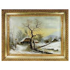 O/C Winter Landscape after George H. Durrie