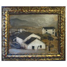 "Small Vintage O/B Painting of ""Country Scene"""