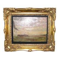 Einar Madvig O/B Impressionist Farm Landscape