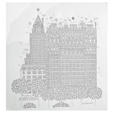 Lithograph of New York Cityscape - Bob Benarski