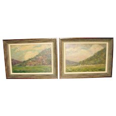 Pair of Small Landscapes by Robert E. Mayall - 1926