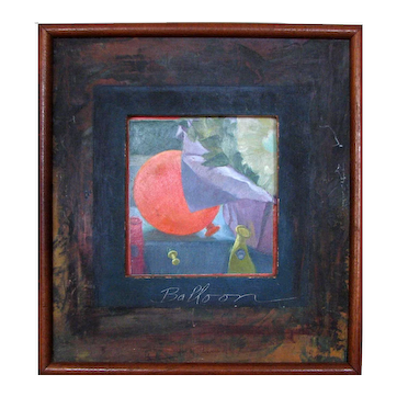 "Unique Contemporary Oil on Board Still Life – ""Balloon"""