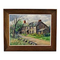 Helen Aubourg Impressionist Country House Painting