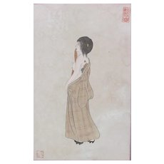 Japanese Painting of Courtesan – Kanzan Shimomura